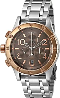Nixon Women's A4042215-00 38-20 Chrono Analog Display Japanese Quartz Silver Watch