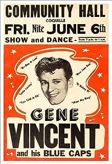Gene Vincent Concert Poster Print by delovely Arts
