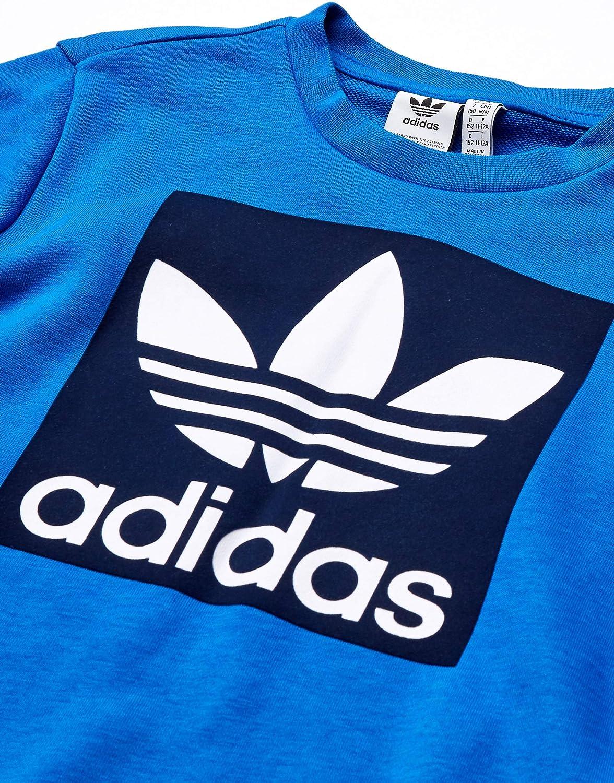 adidas Originals Kids' Big Juniors Outline Crewneck Sweatshirt