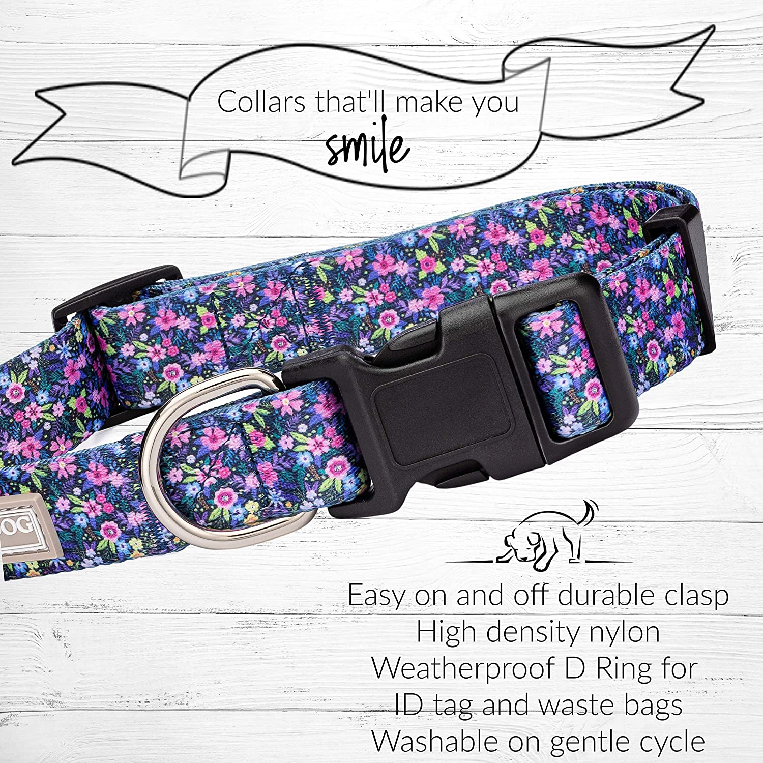 Premium Large, Martingale Ladybird Medium Floral Collars for Girl Dogs Large |Matching Collar Leash Set Lucky Love Dog Cute Female Dog Collars Small