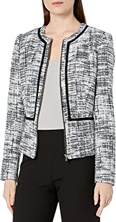 Women's Novelty Piped Zip Front Jacket
