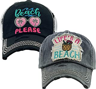 Funky Junque Womens Baseball Cap Bundle Unconstructed Vintage Distressed Dad Hat