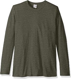 SOFFE Men's Tri-Blend Long Sleeve Crew Neck Tee T-Shirt