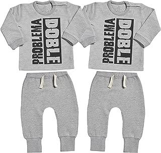 Azul Body para beb/és /& Negro Pantalones para beb/é Qu/é Gemela Tan Guapa! Regalo para beb/é Ropa Conjuntos para beb/é Spoilt Rotten SR Conjunto Gemelo