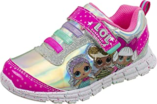 L.O.L Surprise Girls Sneakers, Light Up Fashion and Athletic Shoes with Strap, Queen Bee Deva MC Swag and Rocker, Little Girl/Big Girl size 8 to 3, Ages 3 to 10