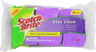 Scotch-Brite Scrub Sponge, Stay Clean Non-scratch, 9 Count