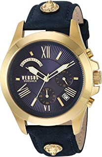 "Versus by Versace VSPBH1118 - Reloj de cuarzo para hombre, diseño con texto""Chrono Lion Extension"", color azul"