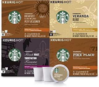 Starbucks Black Coffee K-Cup Variety Pack for Keurig Brewers, 24 Count (Pack of 4)