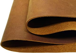 Muse Craft Leather Hides - Top Quality Full Grain Leather Square - Pre-Cut 1.7-1.9 mm Crazy Horse Leather Squares for Upholstery/Crafts/Tooling/Hobby Workshop (Brown, 12''x 24'')