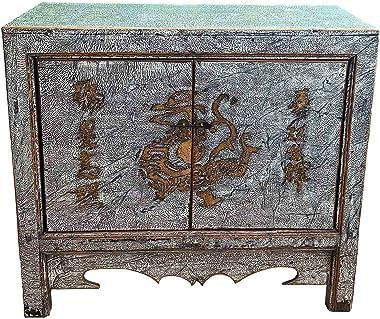 Asia Commodel – Armoires dragon (80 x 90 x 39,5 cm) – Armoire chinoise style de vie