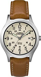 Unisex TW4B11000 Expedition Scout 36 Tan/Silver/Natural Leather Strap Watch