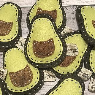Catnip Cat Toy - Avocado - Organic Catnip/Wool Felt/Set of 2