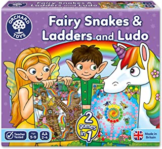 Orchard Toys - Fairy Snakes & Ladders Ludo Games