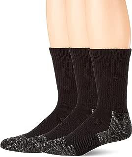 Terramar Odor Block, Reinforced Heel/Toe, Steel Toe Socks (Pack of 3)