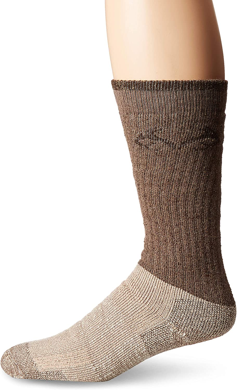 Realtree Men's Cupron Antimicrobial Boot Socks, Brown, Large
