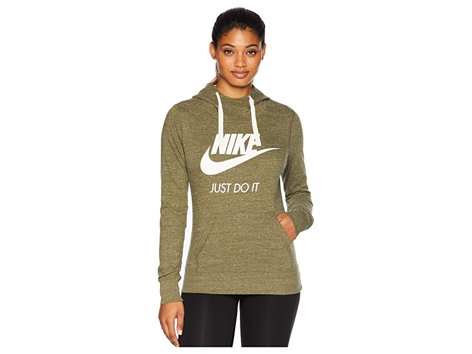 Nike Sportswear Gym Vintage HBR Hoodie (Olive Canvas/Sail) Women