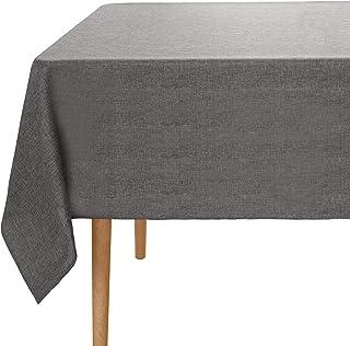 Amazon Brand - Umi Nappe Rectangulaire Effet Lin Impermeable 137x274cm Gris