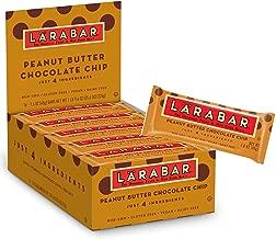 Larabar Gluten Free Bar, Peanut Butter Chocolate Chip, 1.6 oz Bars (16 Count), Whole Food Gluten Free Bars, Dairy Free Snacks