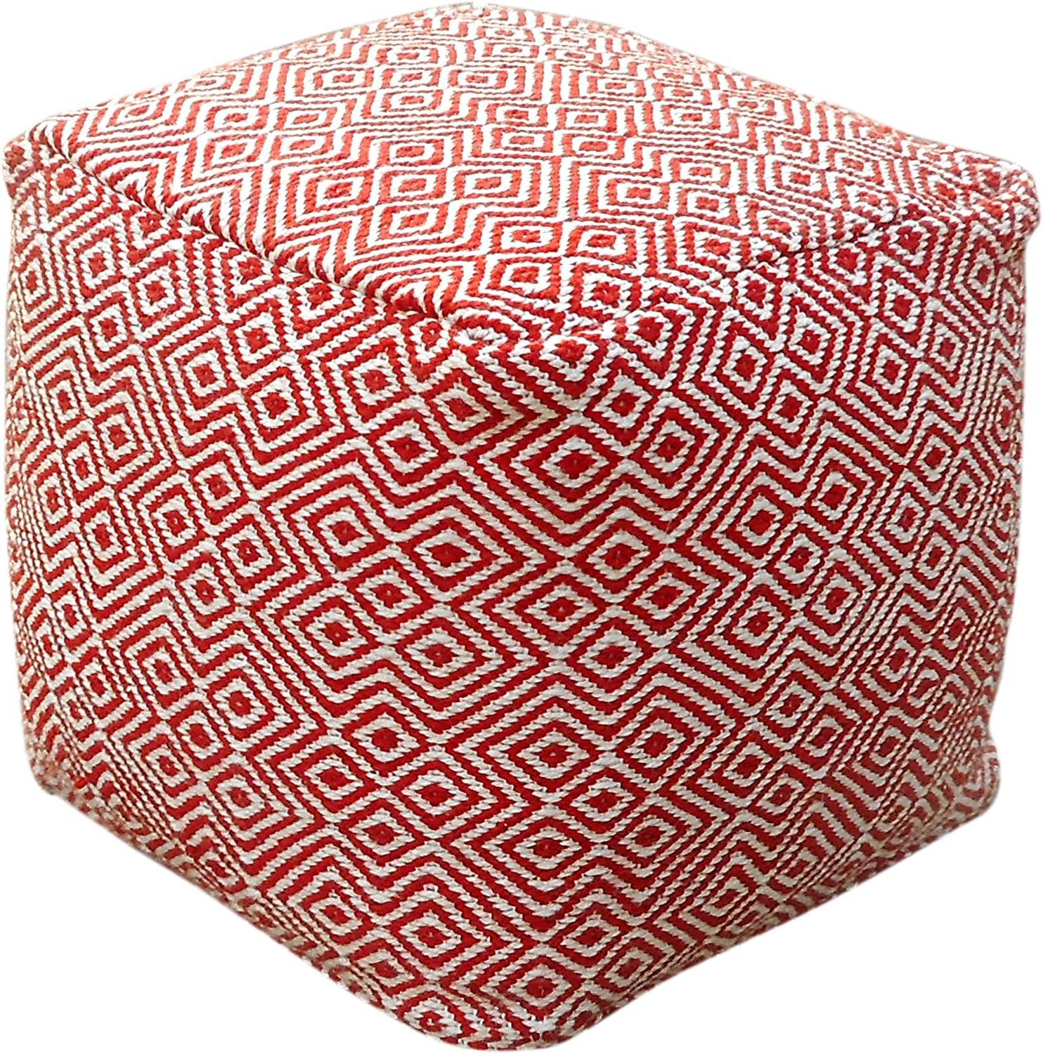Christopher Knight Home Adkins Max 62% OFF Indoor Boho Modern Special sale item wi Pouf Ivory