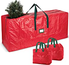 ZOBER 2 Pack Small Garland Bags and Tree Bag Red