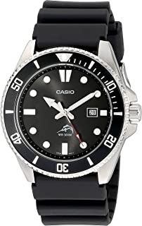 Men's Black Analog Anti Reverse Bezel Watch