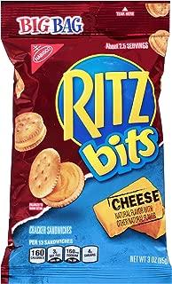 Ritz Bits Cheese Cracker Sandwiches - Big Bag, 3 Ounce (Pack of 12)