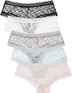 5 Pack Women's Lace Panties - Trimmed Boyshorts Underwear
