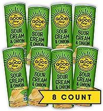 The Good Crisp Company, Sour Cream and Onion, Gluten Free Potato Chips (5.6oz, Pack of 8), Non-GMO, Allergen Friendly, Sta...