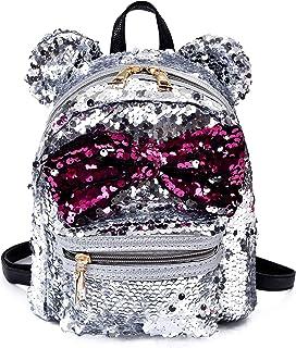 Sequin Backpack Cute Backpack Shoulder School Fashion Backpack Ears Bowknot Bag for Girls Women