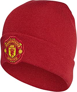 adidas Manchester United Men Beanie Woolie Home Logo Football Headwear