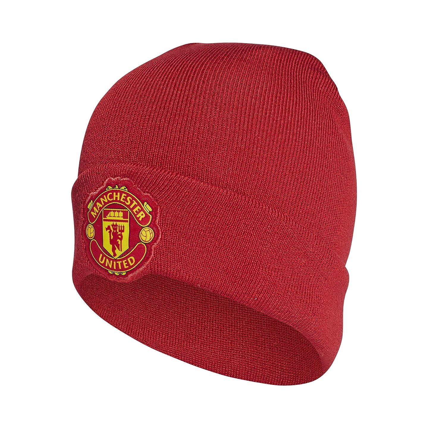 adidas Manchester United Men Beanie Woolie Home Logo Football Headwear