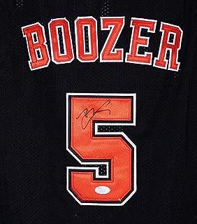 Carlos Boozer Chicago Bulls Signed Autographed Black #5 Jersey Size L JSA COA