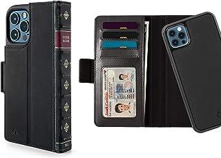 Twelve South BookBook för iPhone 12 och 12 Pro | MagSafe kompatibel 3-i-1 läderplånbok fodral med displaystativ/avtagbart ...