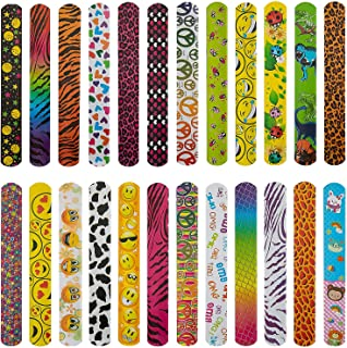 دستبندهای سیلی AIEX 25 عددی با قلب های رنگارنگ جوایز چاپی حیوانات با چهره براق باند سیلی برای پسران و دختران جشن تولد هالووین عید پاک