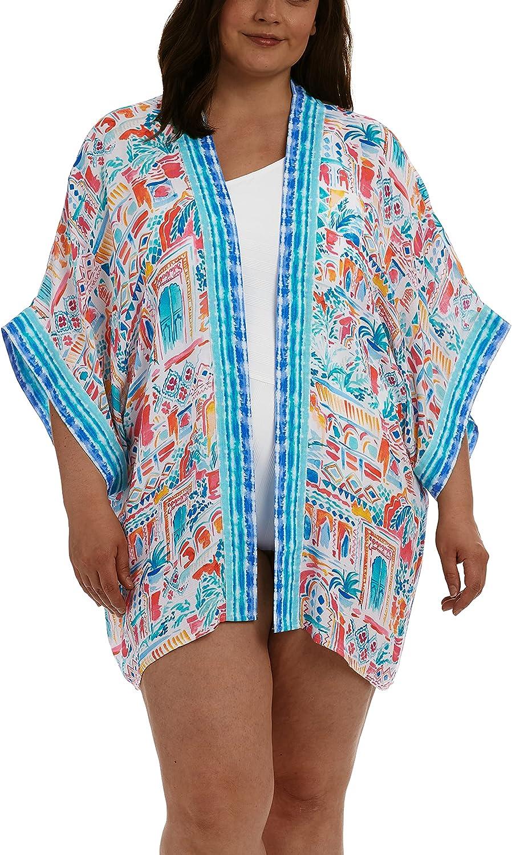 La Blanca Women's Plus Size Kimono Cover-Up