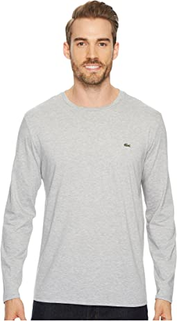 Lacoste - Long Sleeve Pima Jersey Crew Neck T-Shirt