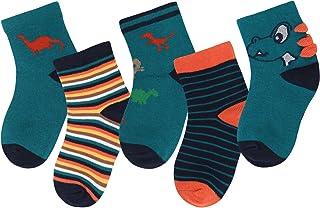 ANIMQUE Calcetines de algodón para niños de 1 a 12 años Muchachos Chicas Calcetines diarios básicos de tripulación respira...