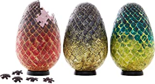 4D Cityscape Game of Thrones (GOT) 3D Dragon Egg Puzzle Set - Viserion, Drogon, Rhaegal