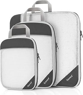 Gonex Organizador para Maletas Viaje Equipaje, Portatrajes Bolsas de Embalaje Almacenaje para Ropa Zapatos Cosméticos Cubo...