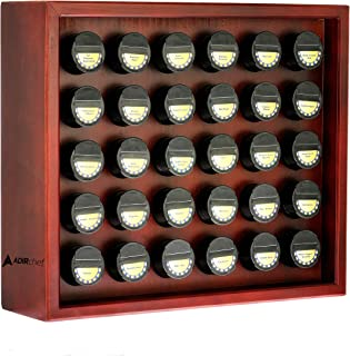 AdirChef Wooden Spice Rack - Includes 30 3.5oz Jars- Cherry (14