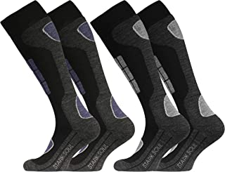 2 pares Original VCA Función Esquí Calcetines, Calcetines Deportivos de invierno con especial acolchado
