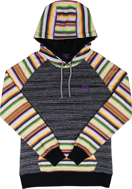 Hooey Ladies Black Space Dye Hoody with Serape Design
