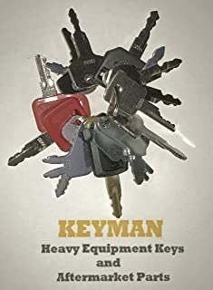 Keyman 16 Heavy Equipment Construction Ignition Keys Set