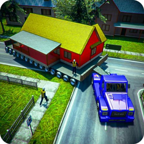 Trabajo de House Mover: House Transport Euro Long Truck Trailer Cargo Driving Simulation juego gratis para niños 2020