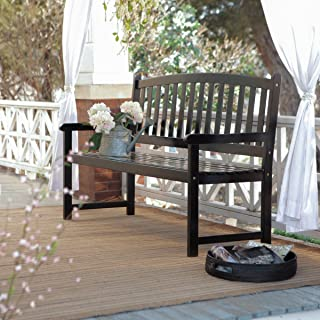 Coral Coast Pleasant Bay 5 ft. Slat Curved-Back Outdoor Wood Bench