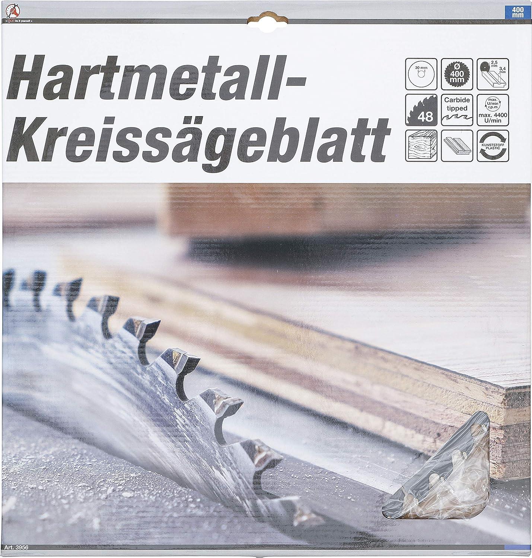 48 dientes Hoja de sierra circular con puntas de carburo Kraftmann 3956 /Ø 400 x 30 x 3,4 mm