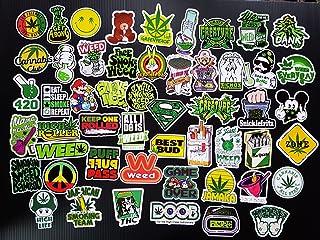 Weed Marijuana Cannabis Pot Leaf Stickers Pack for Laptop Luggage Vinyl Vintage Sticker Graffiti Laptop Luggage Decals Stickers