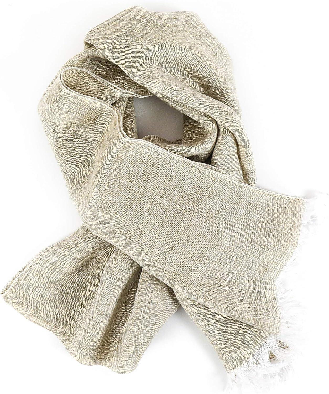 Tessitura Pardi Woman's Natural Italian Soft-Hand Tissue Linen Fashion Scarf 30
