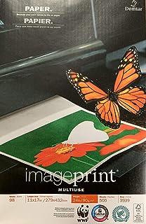 $79 » 2 REAM Pack ImagePrint 11x17 Multiuse Multipurpose Premium Quality 24lb Copy Printer Paper - Bright White, 500 Sheets. Rai...