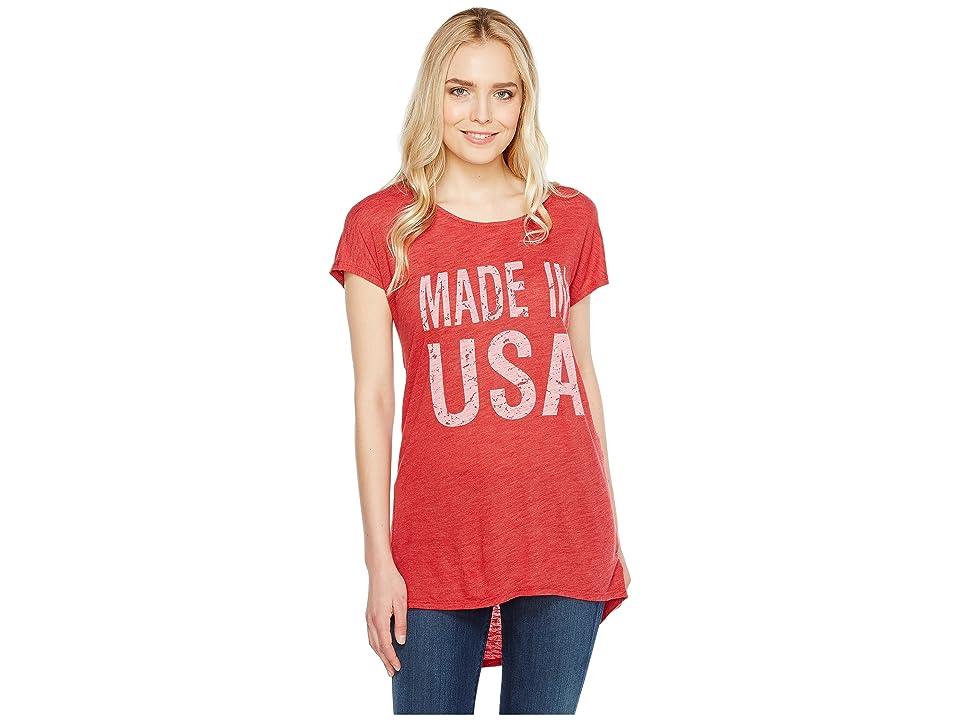Allen Allen Made in USA Cap Sleeve Tee (Rio) Women's T Shirt